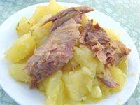 Capón relleno con frutos secos